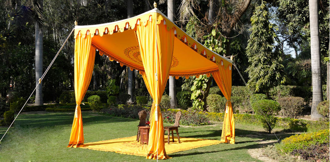Shamiana - Bedouin Saffron & Indian Wedding Tents | Bedouin Tent | Traditional Flat Tent | Pelmet