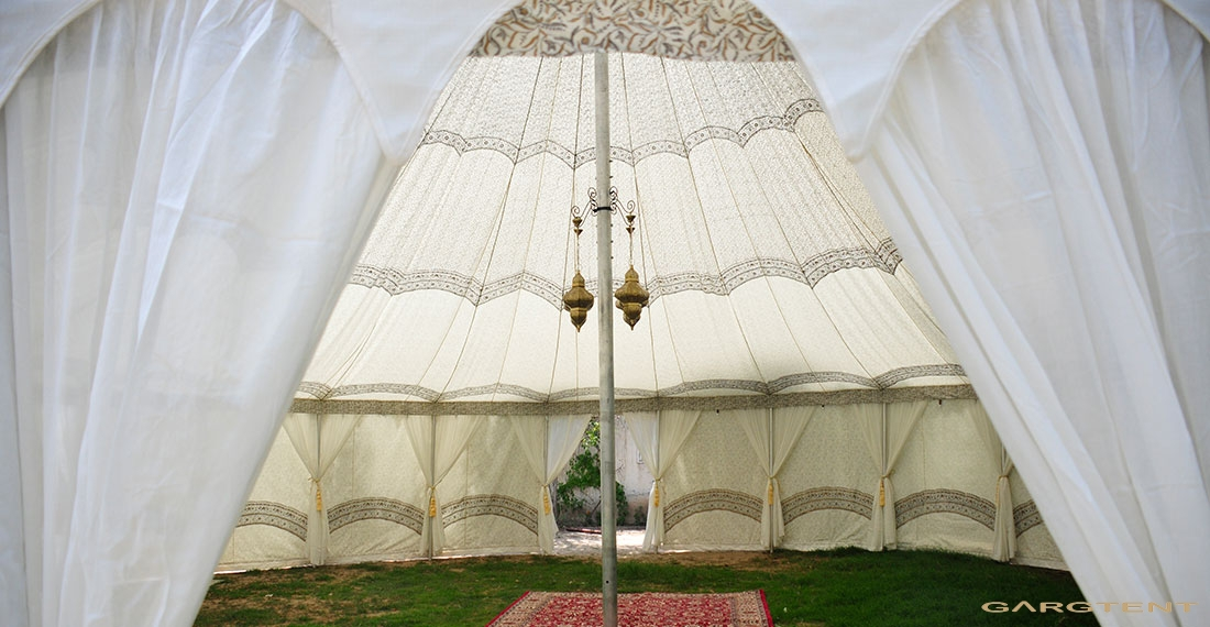 Raj Pole Tent 12mx18m Bell Ended